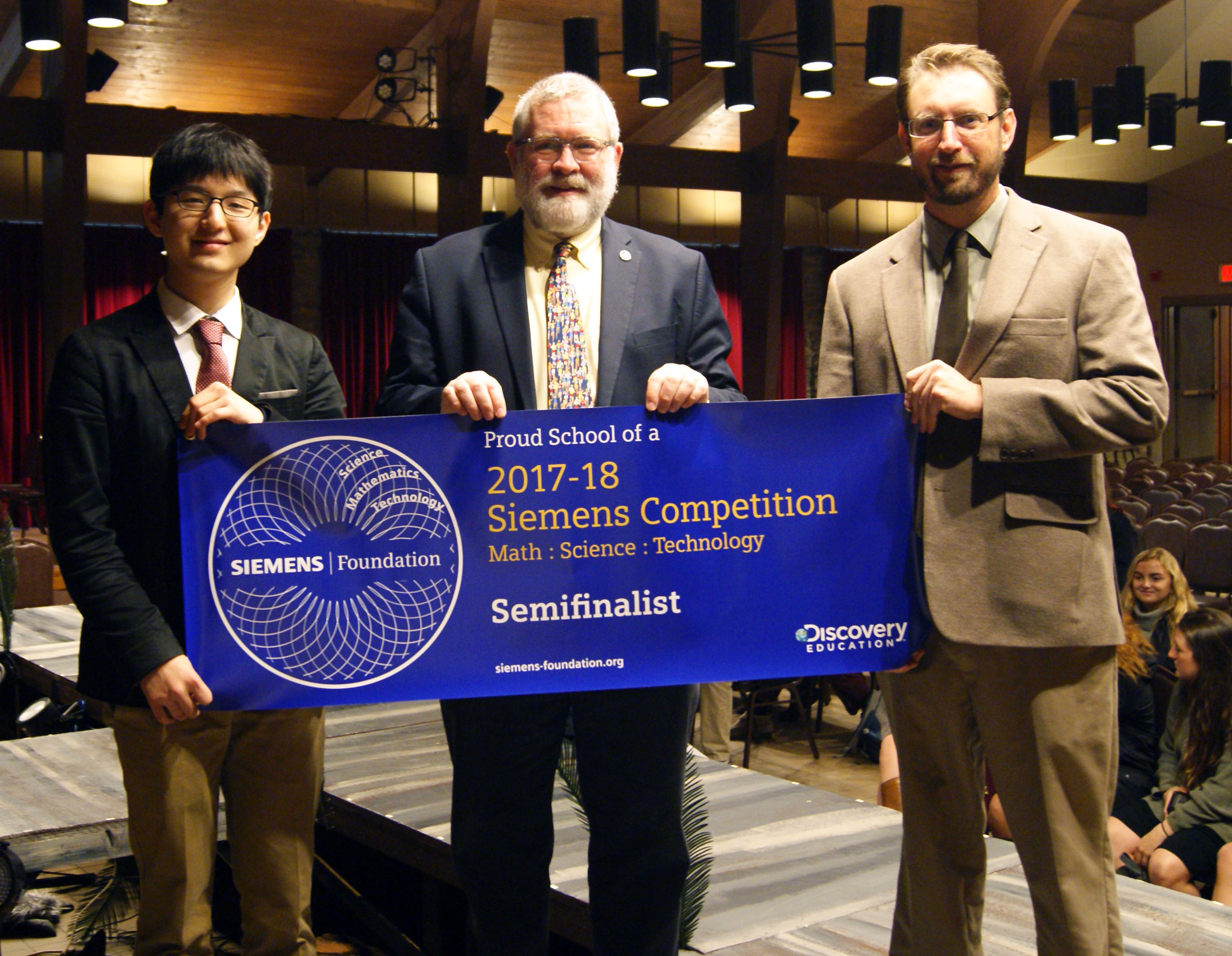 Sungwon Kim with Semifinalist Banner